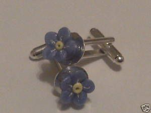 For Dads!!!  Forget me not cufflinks  by Abi Lang