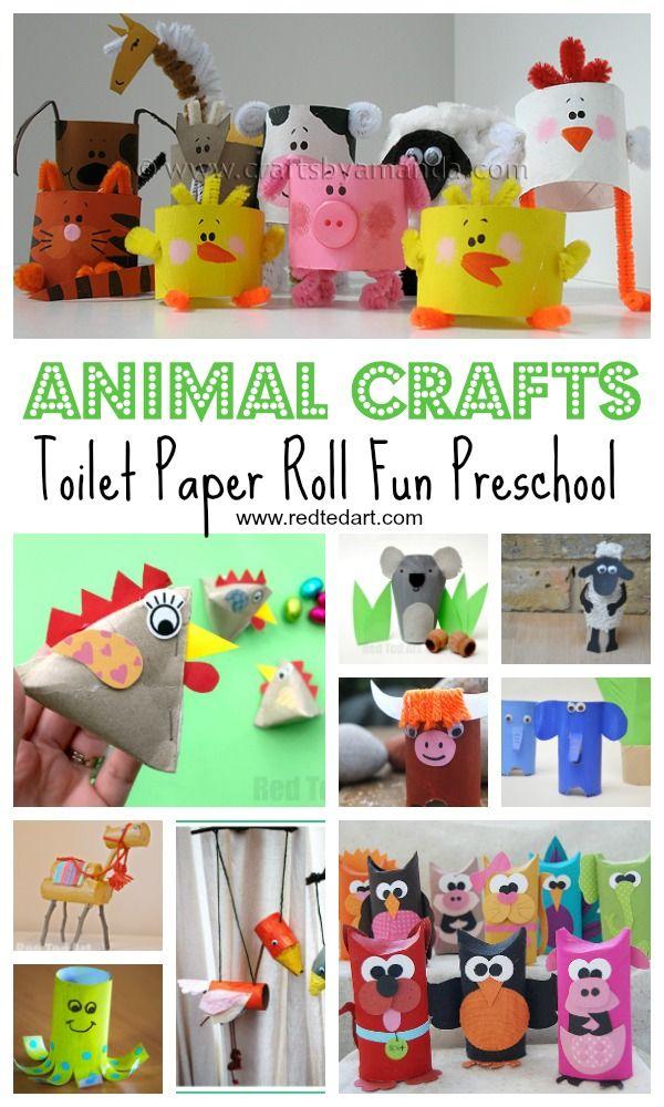 Toilettenpapierrolle Tier Handwerk für Vorschule - Papierkunst - Eindrucksvolle Arbeiten der besten Papierkünstler #animalcrafts