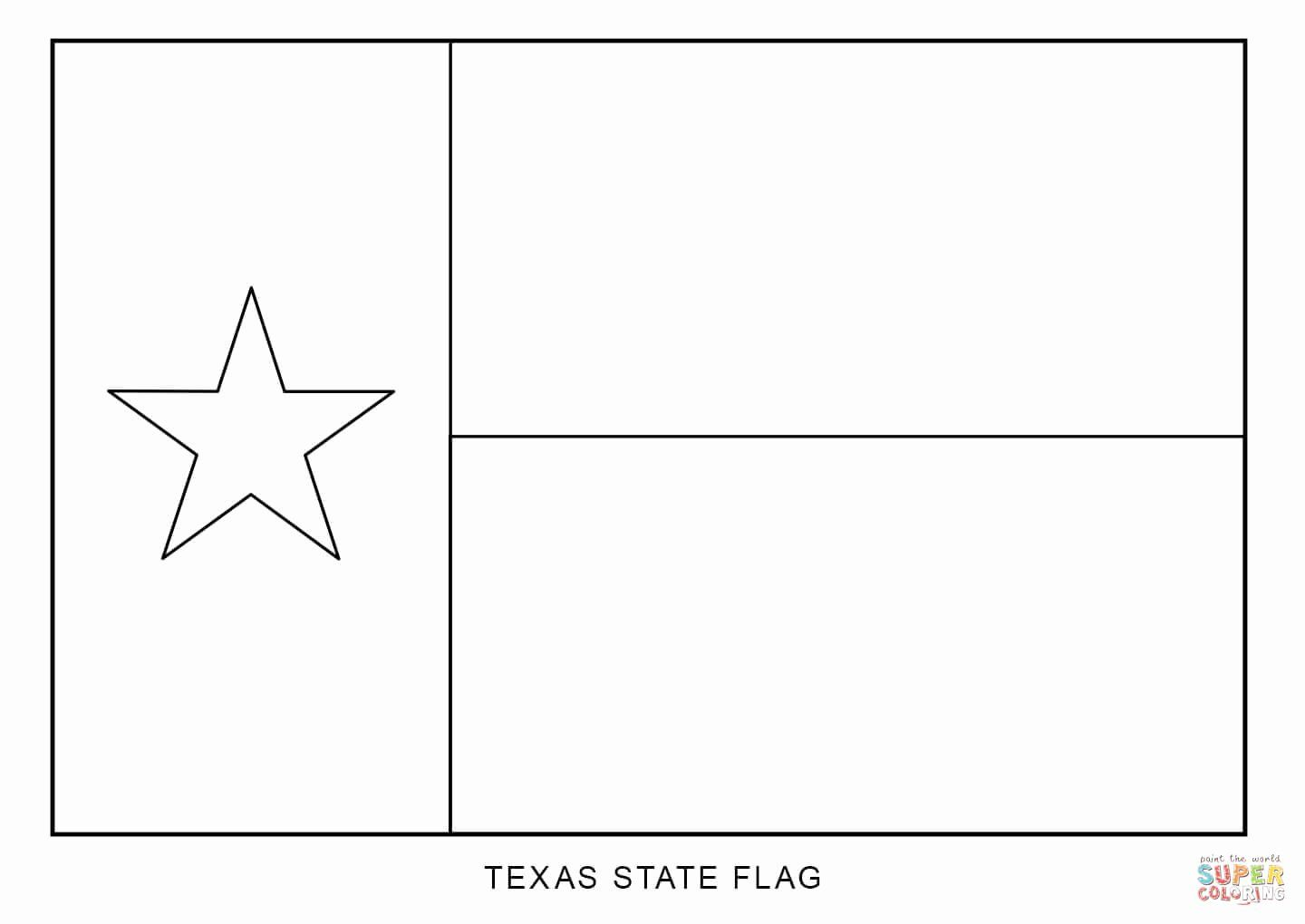 32 Texas Flag Coloring Page In