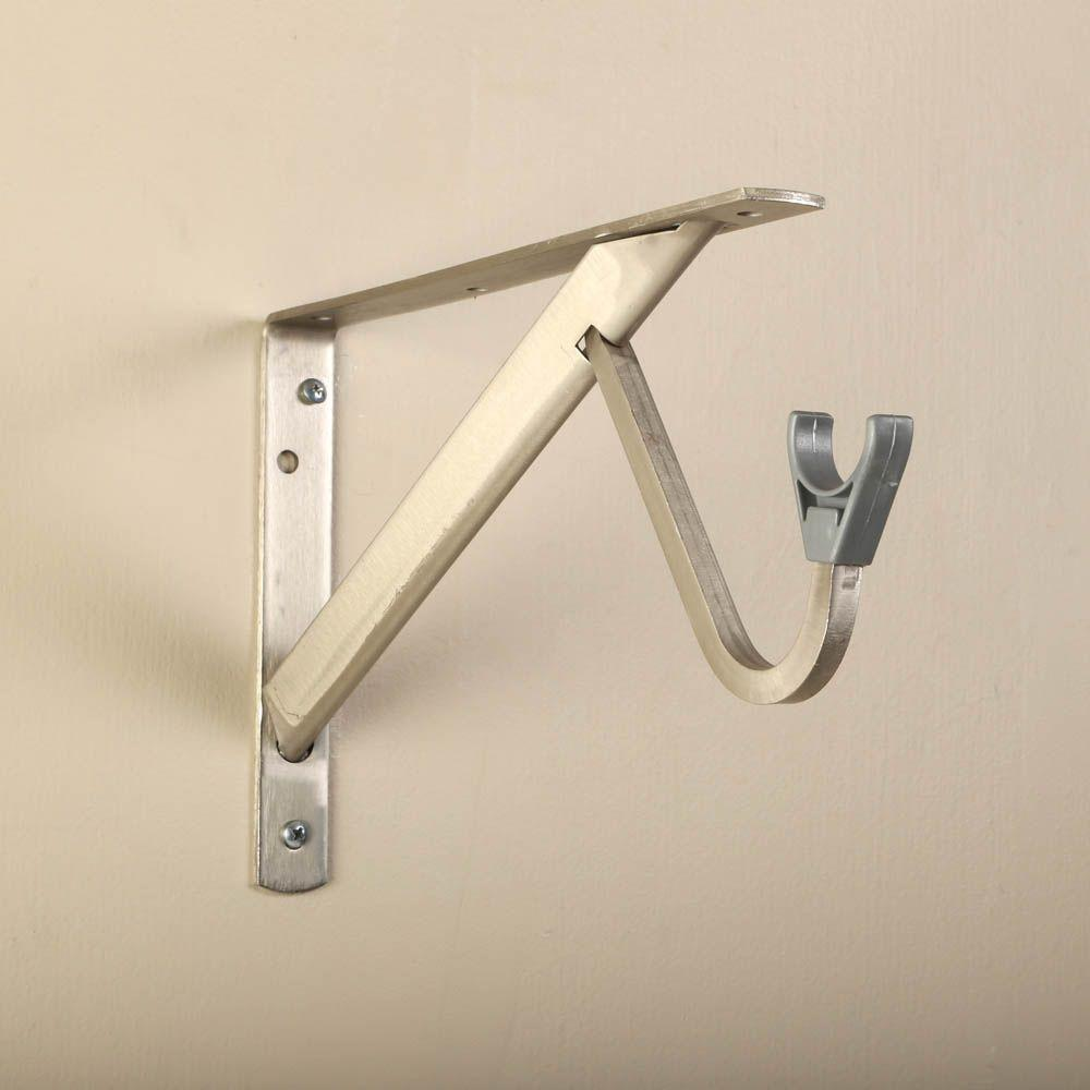 11 1 4 In Heavy Duty Brushed Nickel Shelf And Rod Bracket Shelf Brackets Closet Hardware Chrome Shelf Brackets