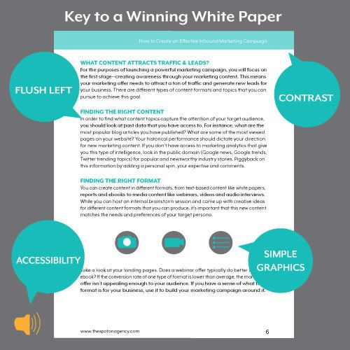 A white paper template helps you build content that applies - sample marketing campaign