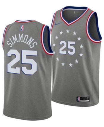 28f34fd78 Nike Men's Ben Simmons Philadelphia 76ers City Swingman Jersey 2018 - Gray  XXL