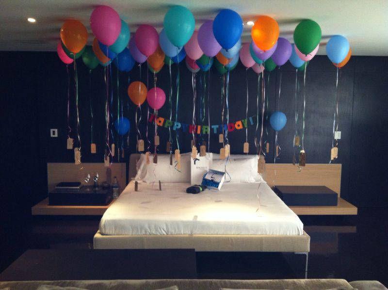 Decoracion de cuartos con globos 1 cumplea os de mi for Cuartos decorados romanticos con globos