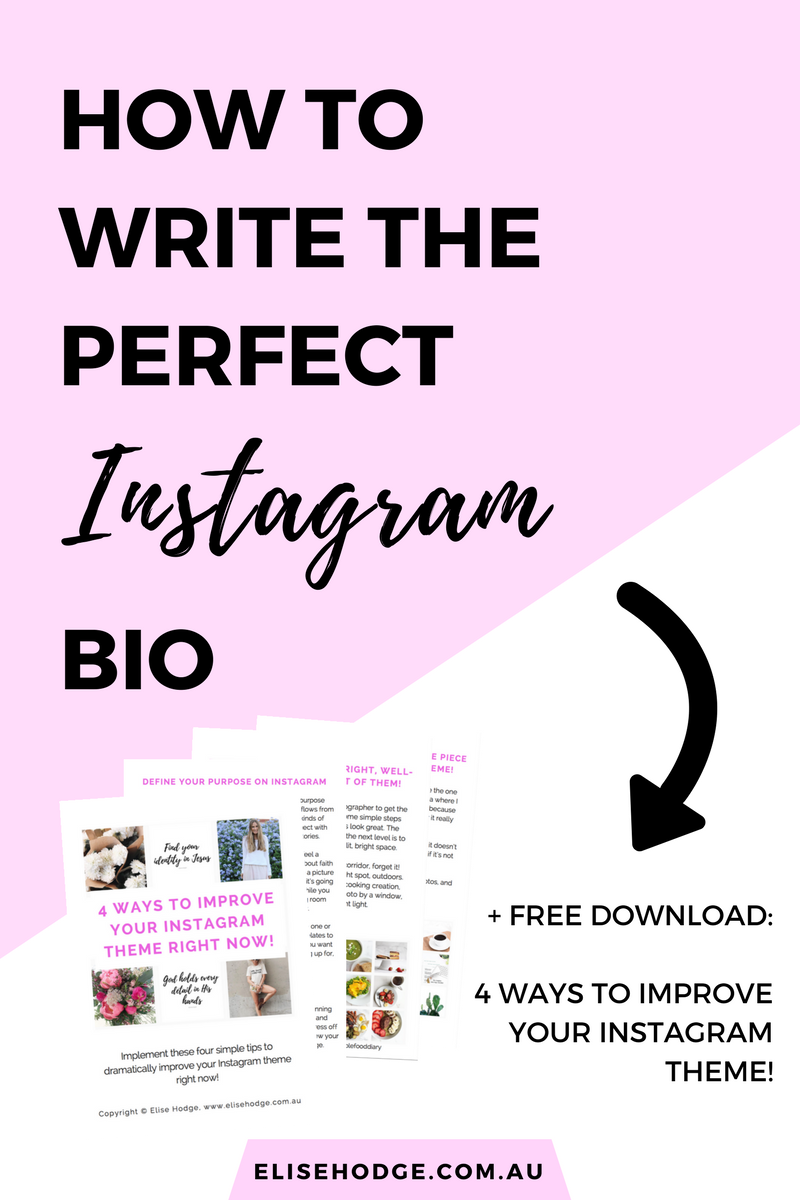How to write the perfect Instagram bio — Elise hodge  Instagram