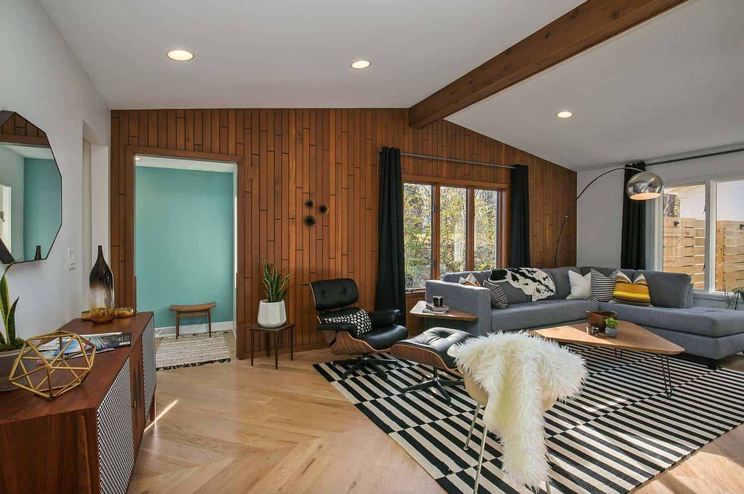 Mid-century modern home gets a stunning transformation in ...