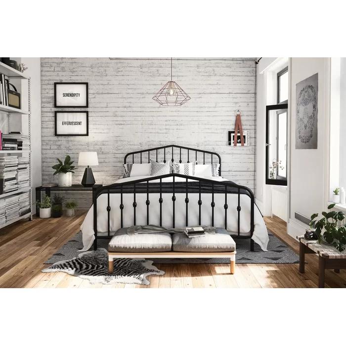 Bushwick Platform Bed Bedroom layouts, Metal platform