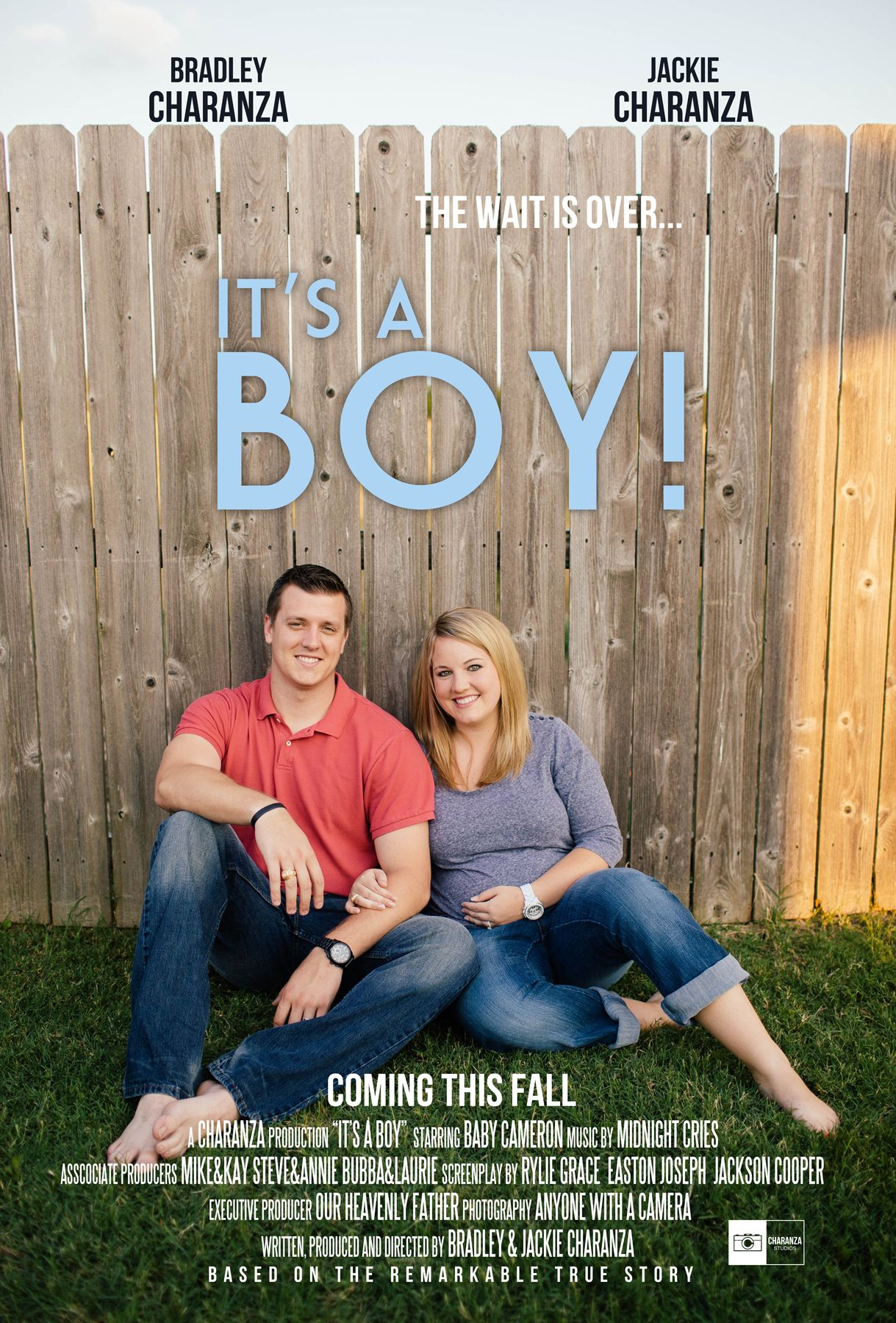 it s a boy gender reveal movie poster baby maternity photography