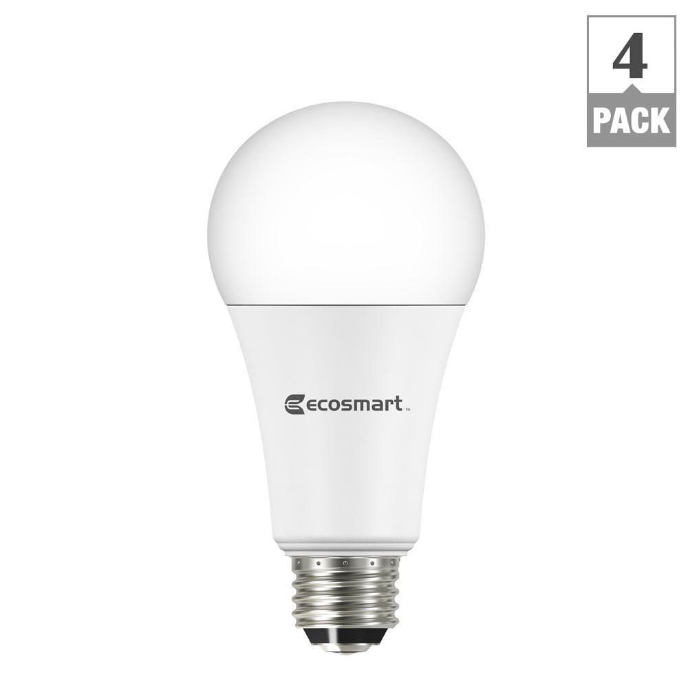 Ecosmart 40 60 100w Equivalent Daylight A21 3 Way Led Light Bulb