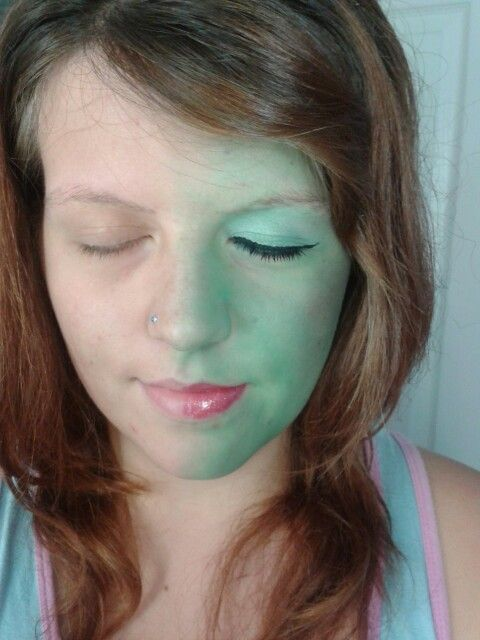 Elphaba wicked the musical make up, done with own makeup and Smithys green joke paint