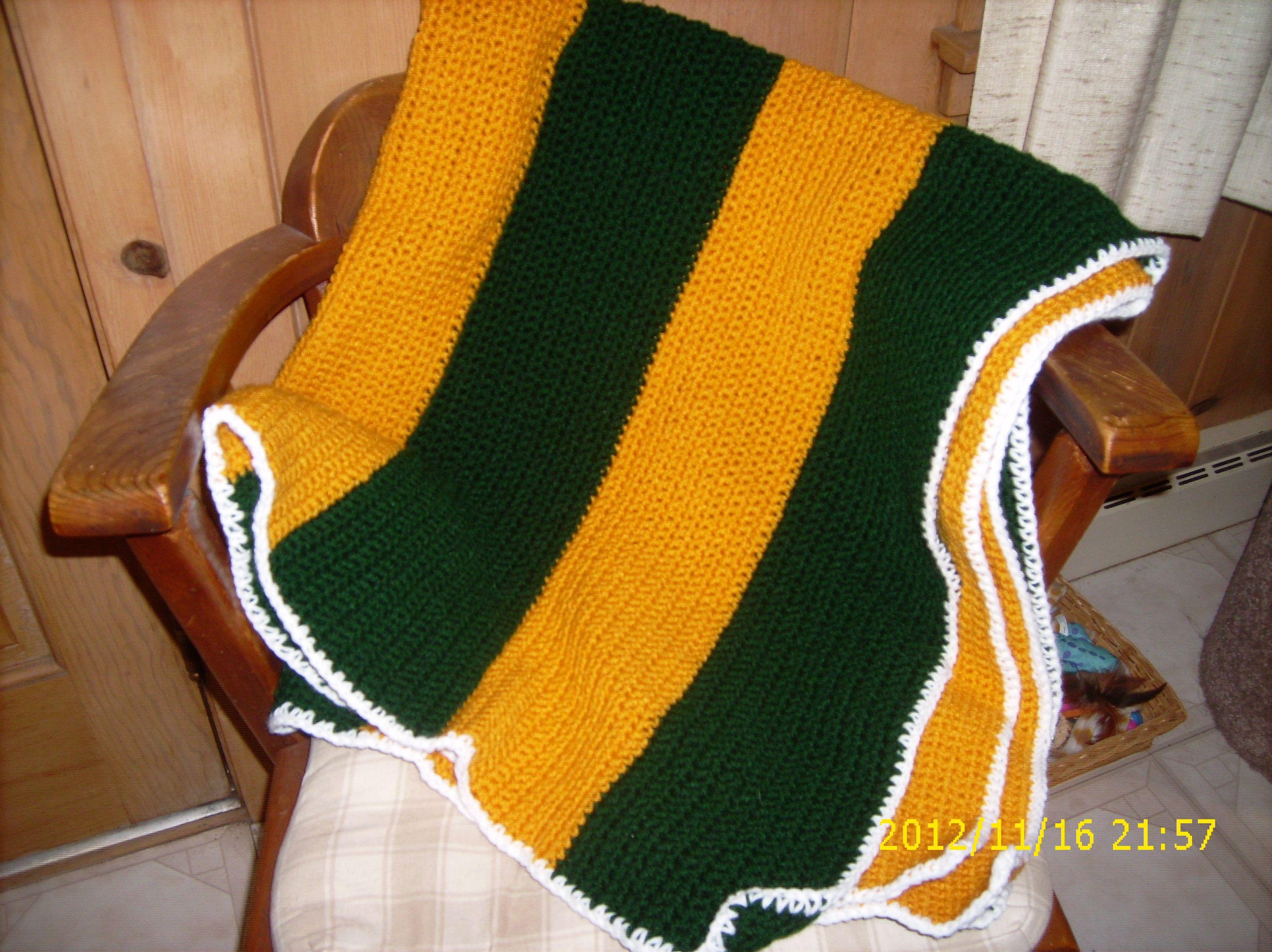 Green Bay Packer Afghan Crochet Patterns Crochet