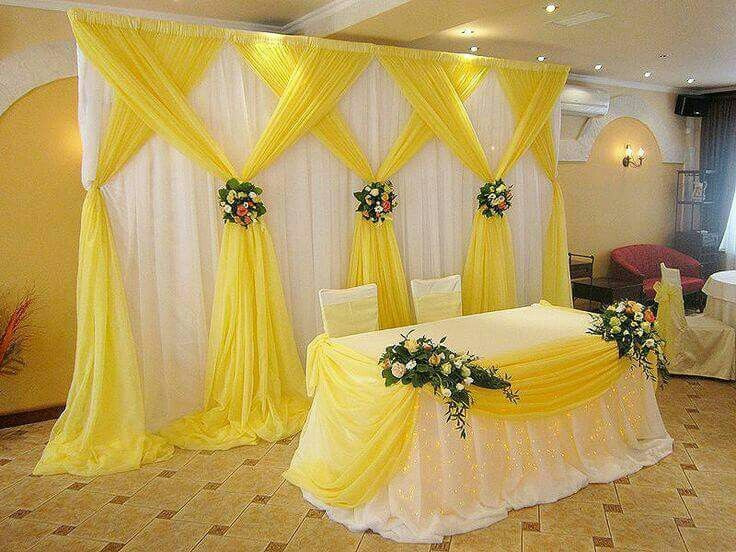 Cortinas Decoraçao Decoraç u00e3o Boda, Decoracion bodas e Salones de fiestas -> Decoracao De Tnt Casamento