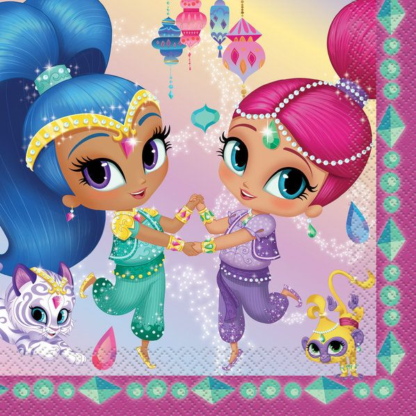 Shimmer And Shine Lunch Napkin (16 Count)
