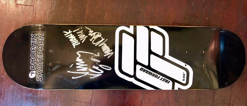 Vinny Vegas Autographed Fast Forward Advertising Skate Deck Fastforward Skate Decks Autograph Ebay