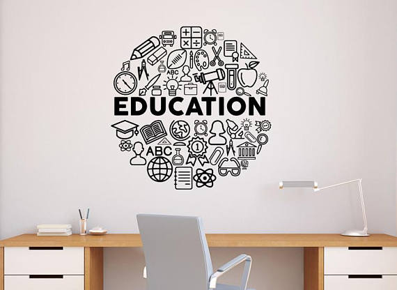education wall decal vinyl sticker school science home office art