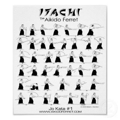 Itachi jo kata 1 poster aikido pinterest for Arts martiaux pdf