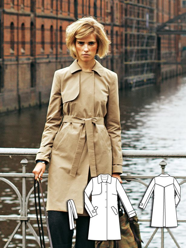 ff9093bdb1a Trench Coat 12 2011  118 - This classic trench coat cotton features a loose  shoulder yoke