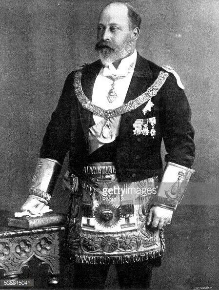 Edward VII a #Freemason - King of Great Britain. Grand Master of @UGLE_GrandLodge 1875-1901.