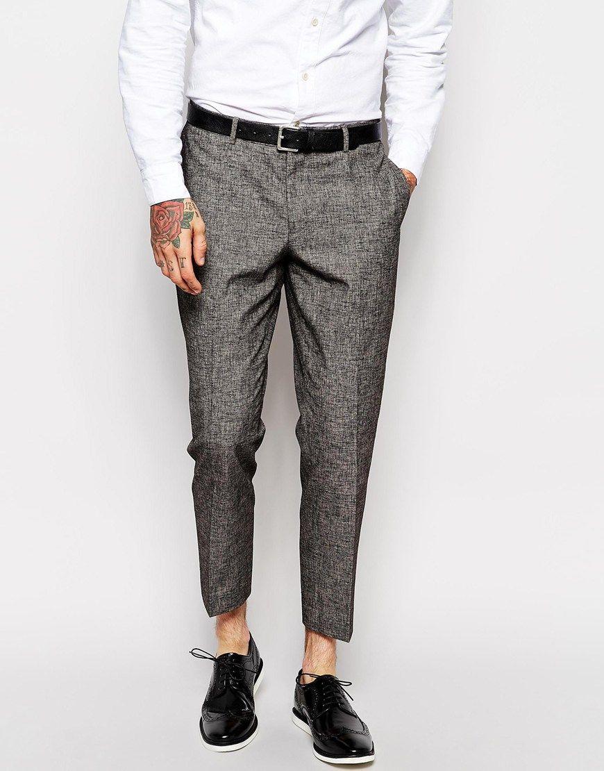 ASOS Slim Smart Cropped Trousers at asos.com