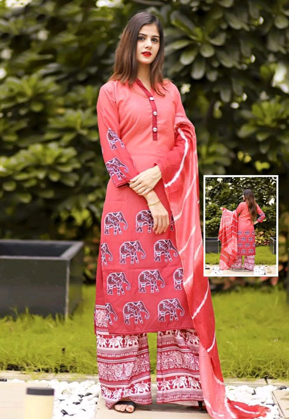 23c04a6cf9 Buy Pink Cotton Readymade Pakistani Style Suit 161526 online at lowest  price from huge collection of salwar kameez at Indianclothstore.com.