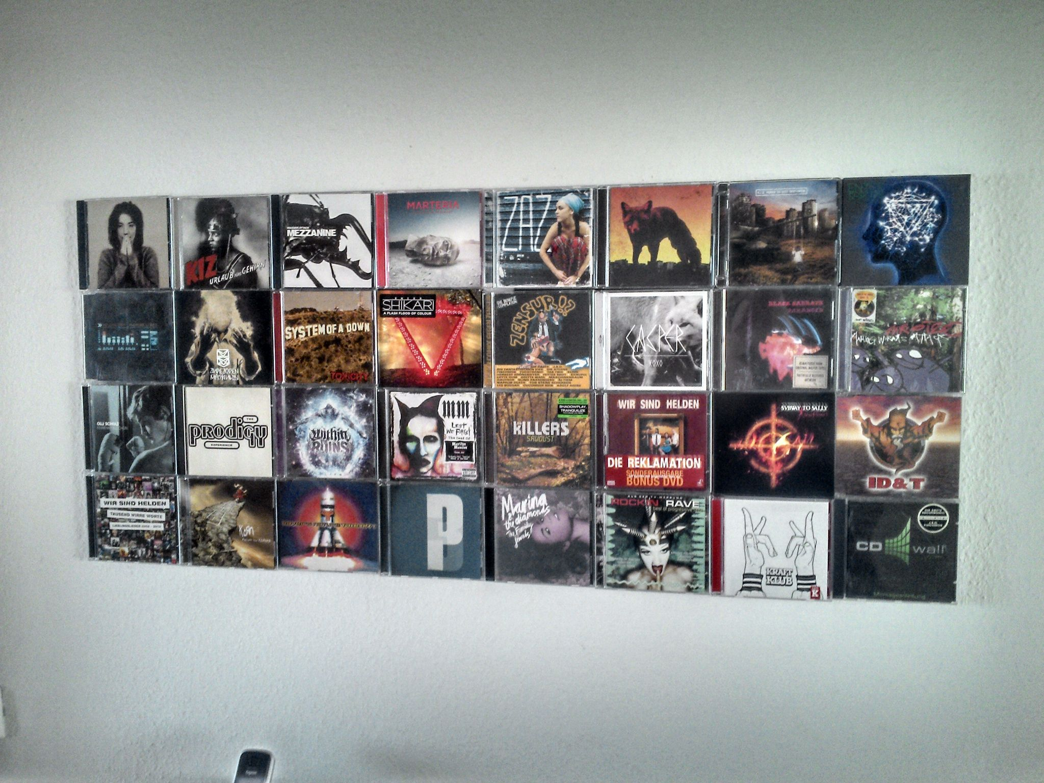 Ever Thought To Place Your Famous Music Cds At Wall