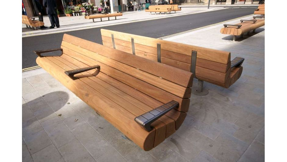 Bench Seat Woodscape Hardwood Street Furniture Wooden Bench Street Furniture Outdoor