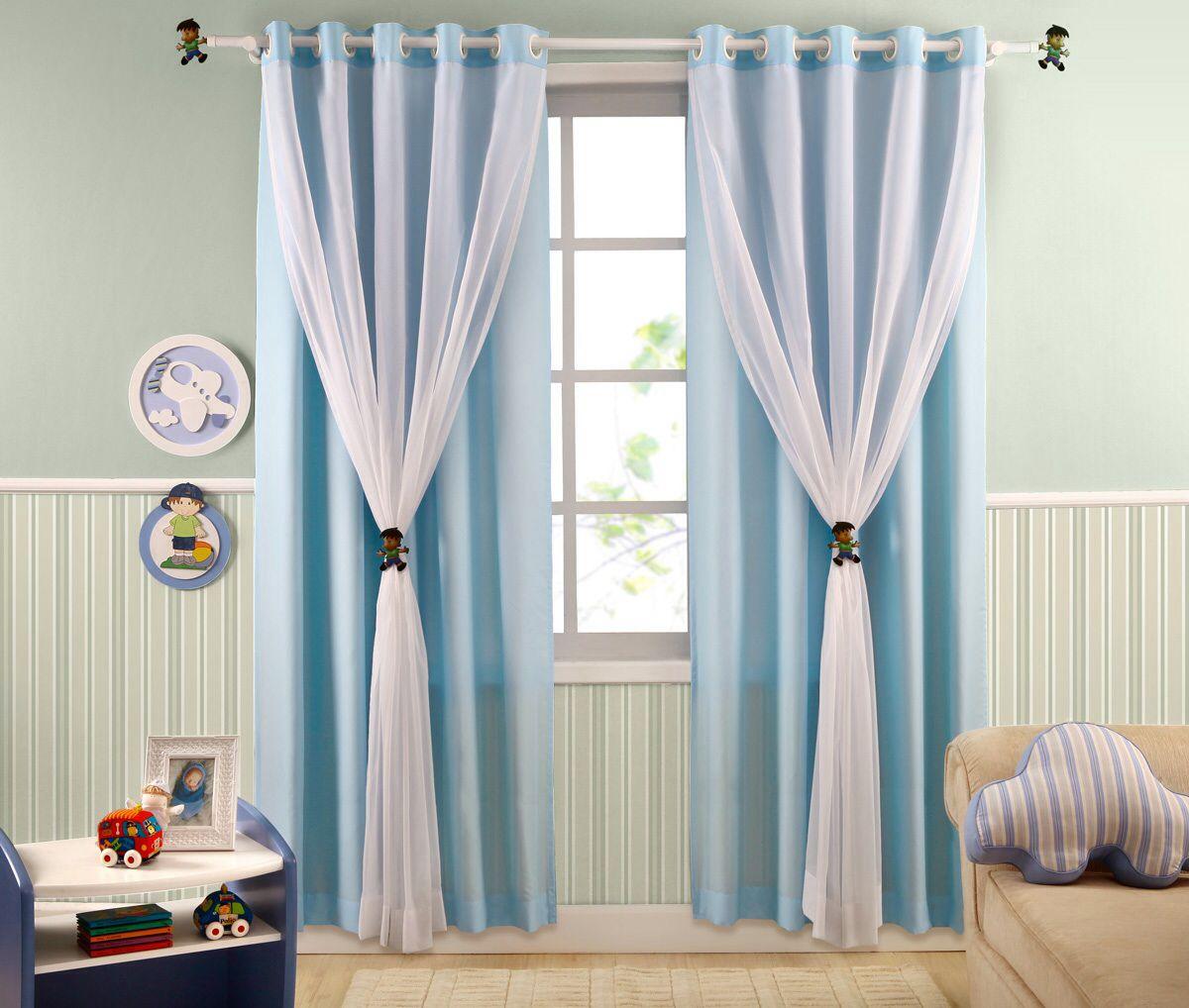 Cortina infantil azul baby cortinas dormitorio for Cortinas habitacion bebe