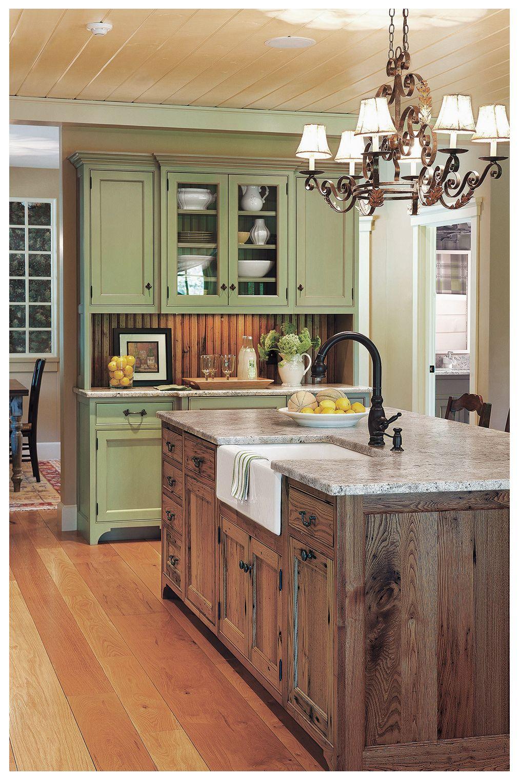 20 Catchy Mediterranean Kitchen Design Elements Ideas Mediterranean Kitchen Design Kitchen Island Design Country Kitchen Decor