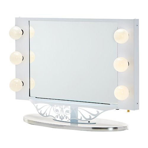Superb Vanity Girl Hollywood Starlet Lighted Tabletop Vanity Mirror    BestProducts.com