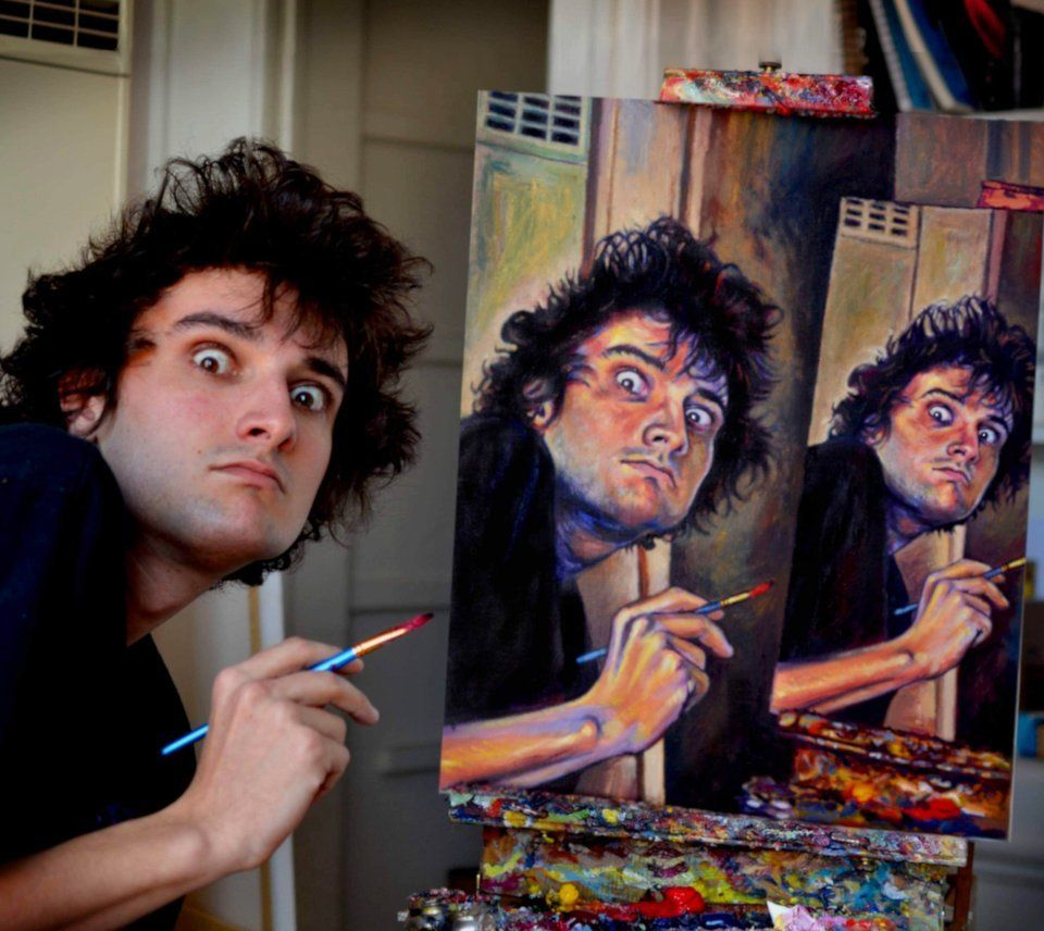 self portrait oil on canvas #humor #funny #memes #lol #jokes