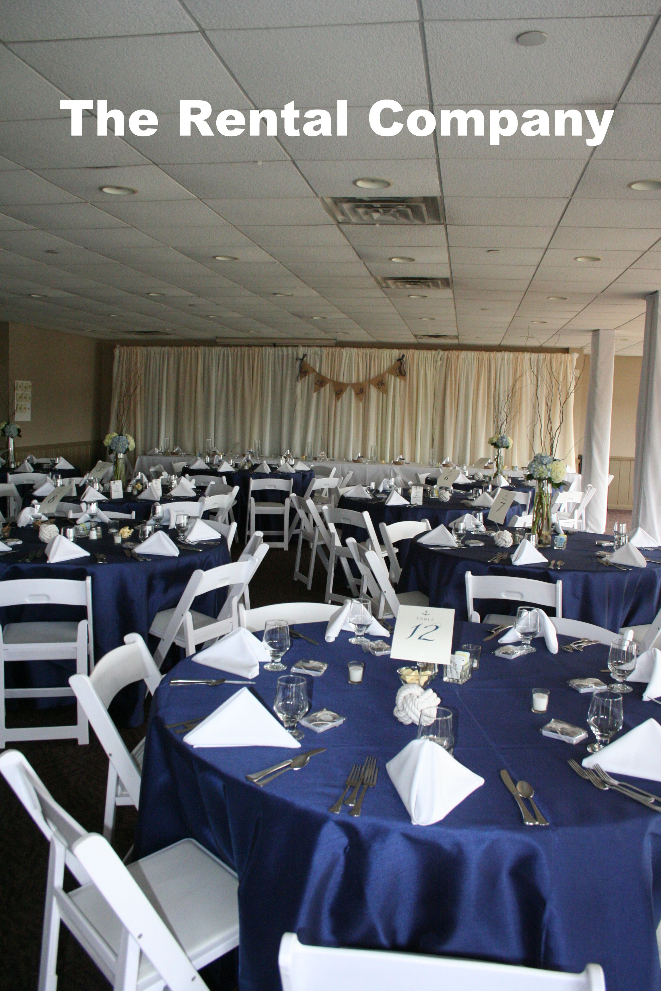 Nautical Themed Wedding The Backdrop Of Draping For The Head Table
