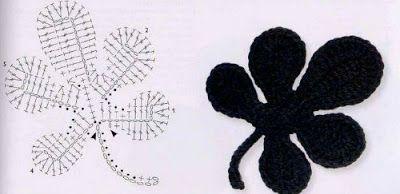 I Miei Lavori Alluncinetto Schemi Uncinetto Foglie Leaf Crochet