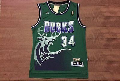 fcada14e8d6 Ray Allen  34 Retro Jersey Milwaukee Bucks Green Throwback NBA Swingman  S-XXL - Basketball-NBA