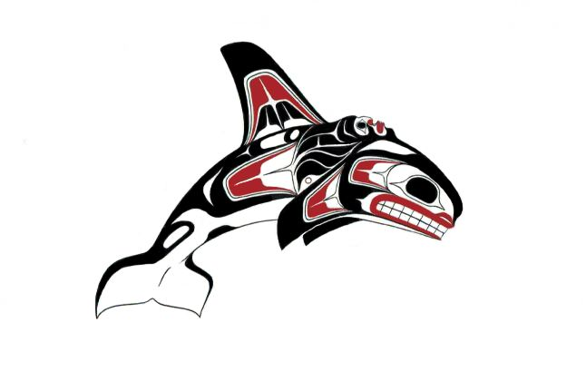 Pin By Monica Elliott On Things To Wear Orca Tattoo Native Art Orca Art