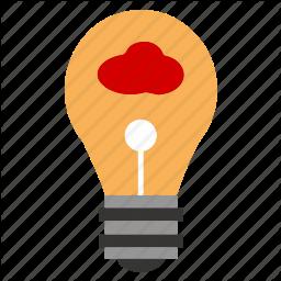 Brain Bulb Creative Idea Lamp Power Thinking Icon Icon Vector Icons Bulb