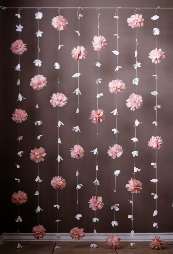 I Also Like This Idea Of The Combination Large And Small Flowers Paper Flower Tissue Puff Garland By Kmhallbergdesign