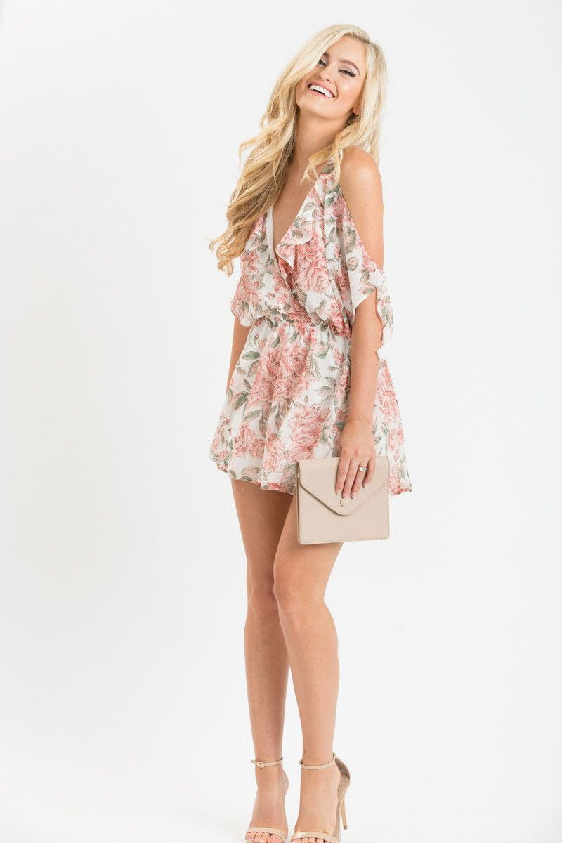 Feminine Rompers for Women, Date Night Outfit Ideas, Floral