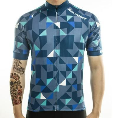 Men s Short Sleeve Geometric Cycling Jersey. Racmmer 2017 Cycling Jersey  Mtb Bicycle Clothing Bike ... 93d4fb535