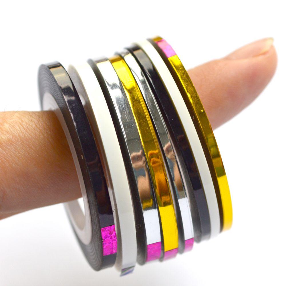 Neu Kommen 2mm/3mm Beliebte Nagel Stripingklebebandnagelkunst Linie ...