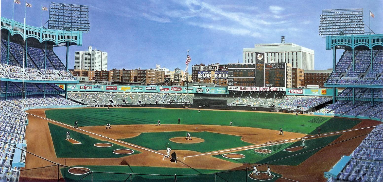 Old Classic Painted Ballparks Variations Baseball Park Baseball Stadium Yankee Stadium