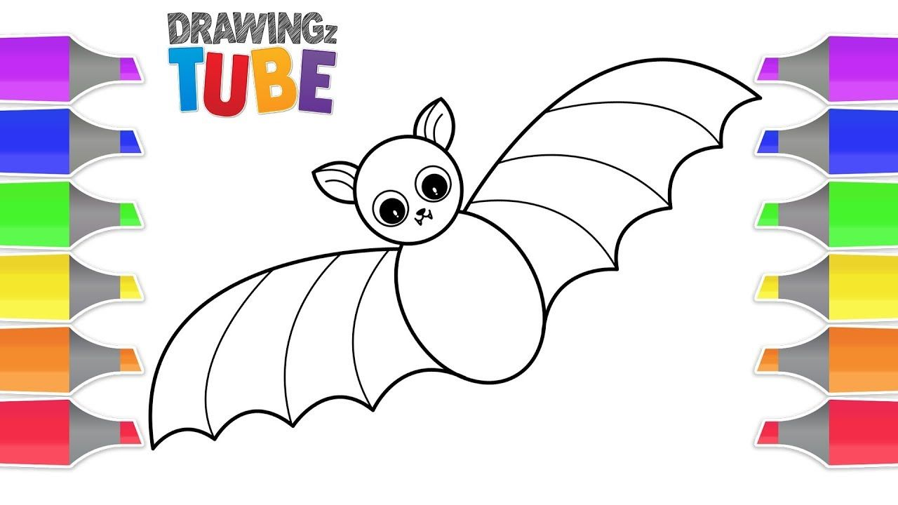 How To Draw A Bat For Kids Halloween Videos Educational Videos By Dr Bats For Kids Draw A Bat Drawing Videos For Kids
