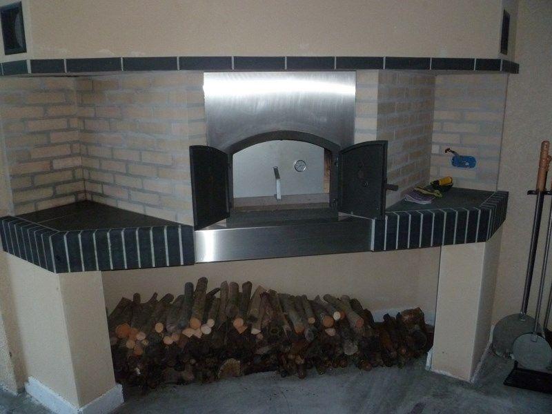 four a pain en pierre blanche et inox four a pain d cobric fabricant de barbecues sur. Black Bedroom Furniture Sets. Home Design Ideas