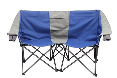 Ozark Trail 2 Person Conversation Chair Blue And Grey