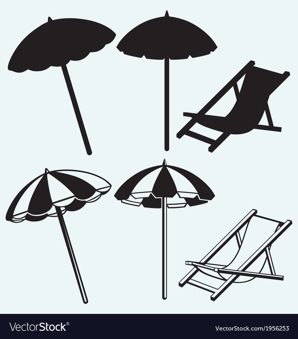 78 Reference Of Beach Chair And Umbrella Vector In 2020 Beach Chair Umbrella Beach Umbrella Beach Chairs