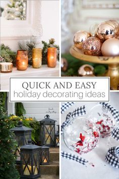 It's never too early to plan for the holidays. These Christmas decorating ideas are super easy and can be completed in 20 minutes or less. -----> #christmasinjuly #christmasdecorideas #christmasdecorations #christmasdecorationideas #holidaydecorideas #holidaydecoratingideas #holidaydecorations #easychristmasdecor #simplechristmasdecorations #designthusiasm  It's never too early to plan for the holidays. These Christmas decorating ideas are super easy and can be completed in 20 minutes or less. -