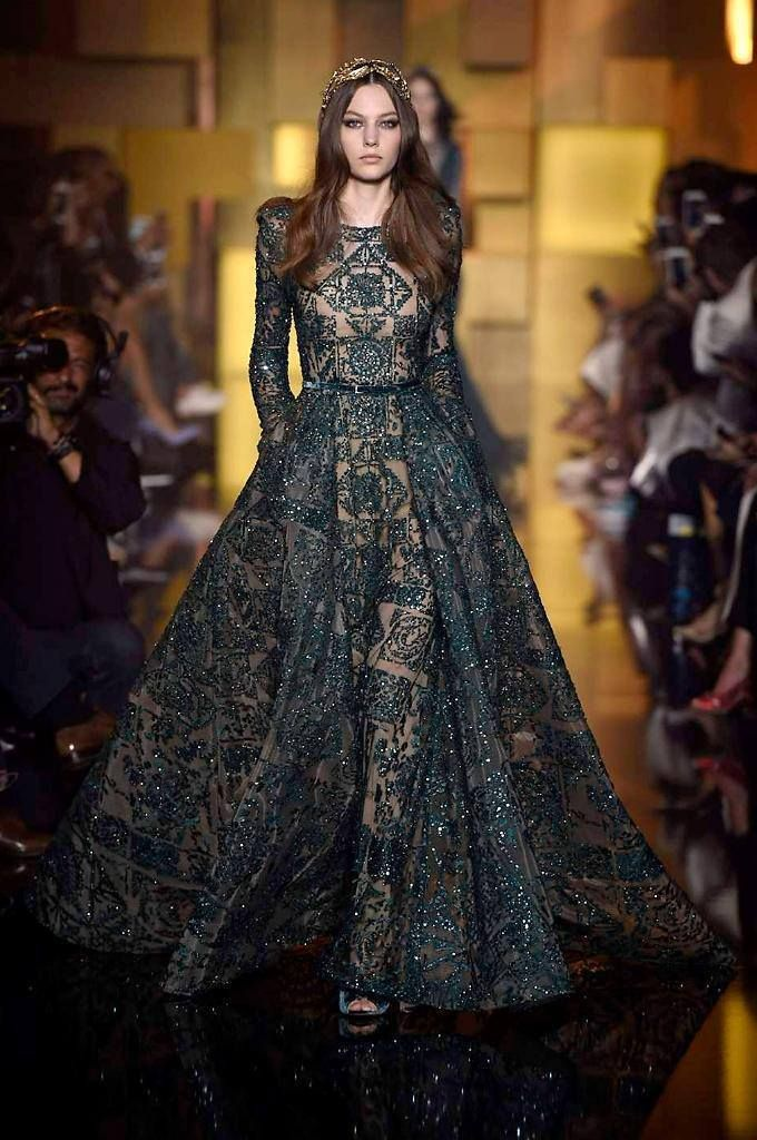 Elie Saab Haute Couture Fall/Winter 2015.Paris Fashion Week