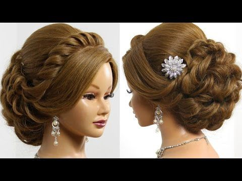 Wedding Prom Hairstyle For Long Hair Updo Tutorial With Braided