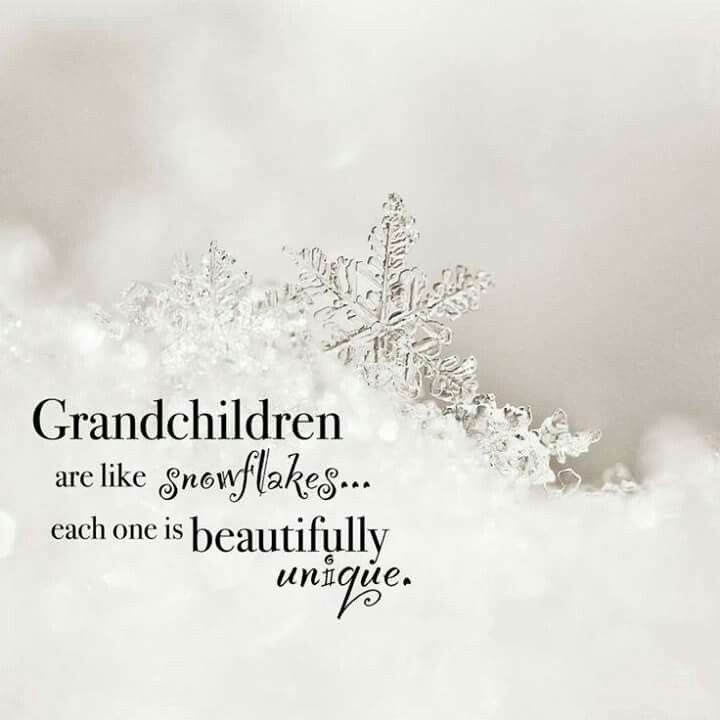Grandchildren are like snowflakes. ..each one is beautifully unique.