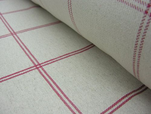 Galway Check - Checked Curtain Fabric - Natural Fabric - Tinsmiths ...