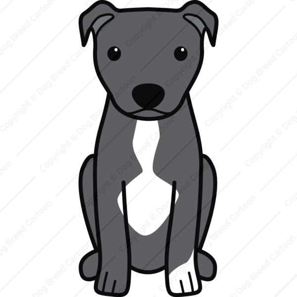 American Pitbull Terrier Natural Ears Black Edition Dog Breed Cartoon Download Your Breed Now Then Print It Frame It Love It Or Create Your Own Memora Pitbull Terrier