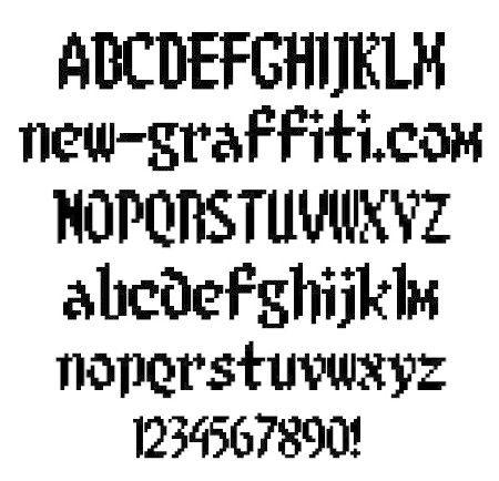pixel font - Parfu kaptanband co